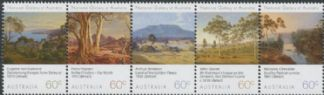 AUS SG3951a National Gallery of Australia (NGV): Landscapes strip of 5